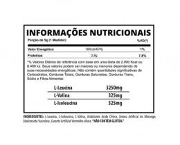 BCAA 3VS - TABELA NUTRICIONAL