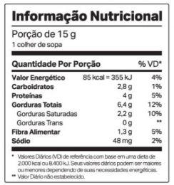 Nutdop Pasta de Amendoim Chocolate Maltado - TABELA